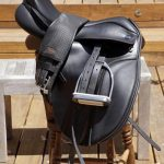 Thorowgood Saddle with new Girth and Stirrups