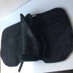 Rams Black Dressage Saddle Cloth with Numnah