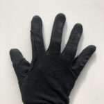 Childrens black riding gloves