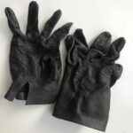 Large Ladies Leather Dark Brown  Gloves