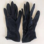 Navy Blue Synthetic Riding Gloves