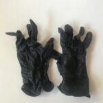 Childs Soft Black Riding Gloves