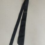 Navy Blue Tie with Pin