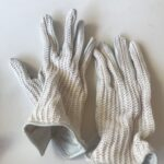 Cotton/leather Riding Gloves